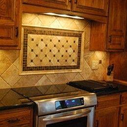 Stone Kitchen Backsplash With White Cabinets Design Inspiration