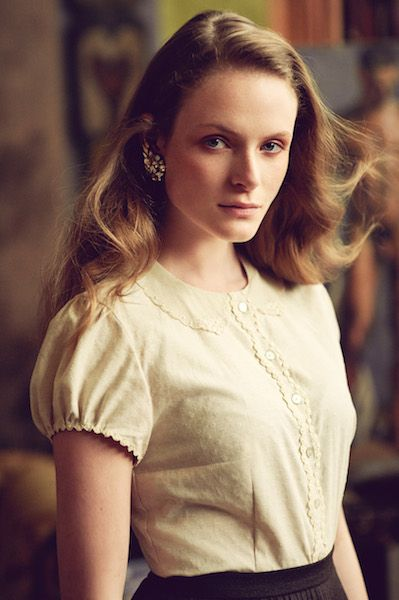 "AW 16/17 ""The Brits"" Catalogue   ""Jane Blouse"" ""Cambridge Skirt, chocolate""  http://shop.lenahoschek.com/"
