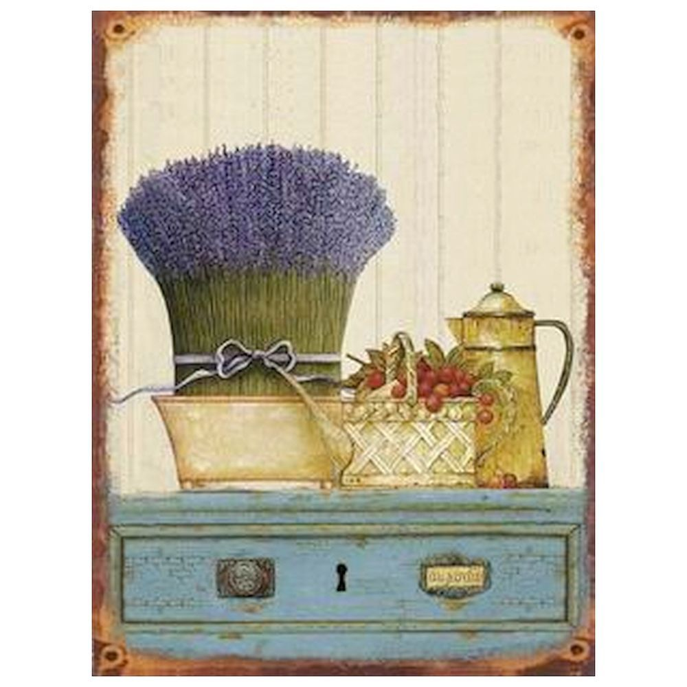 Lavendel Küchen Bild Metall Blech Wandbild Vintage Nostalgie ...