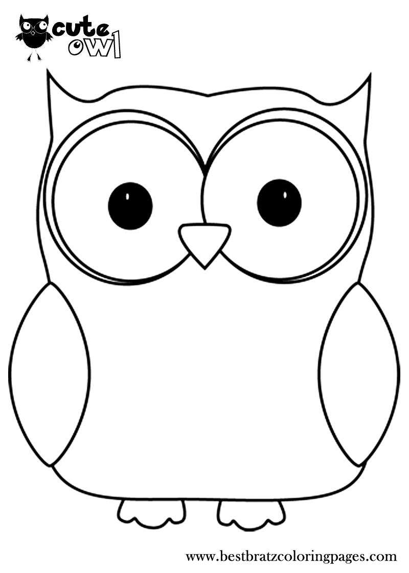Cute Owl Coloring Pages | Bratz Coloring Pages | coloring pages ...