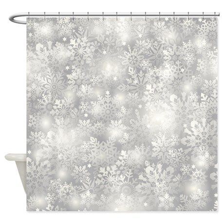 Christmas Snowflakes Shower Curtain On CafePress