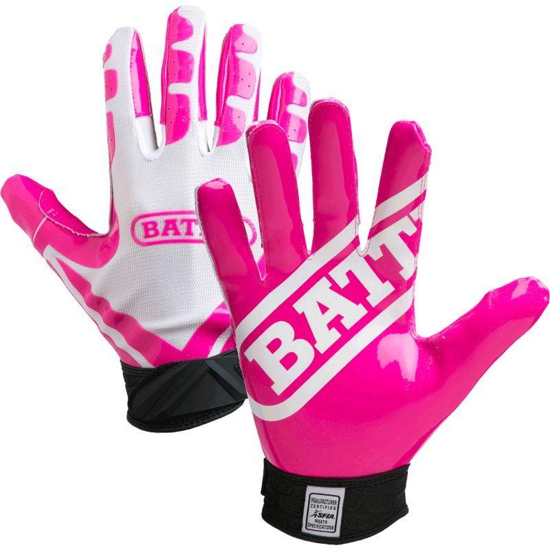 Battle youth ultrastick receiver gloves white football
