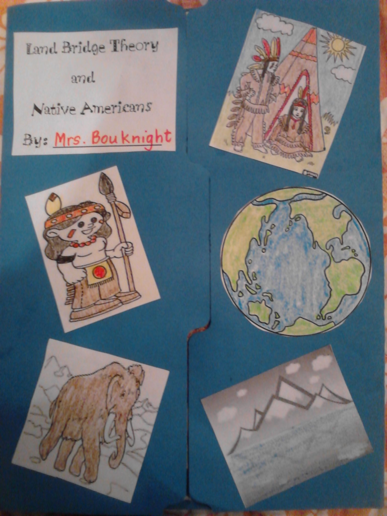 Land Bridge Theory And Native American Lapbook