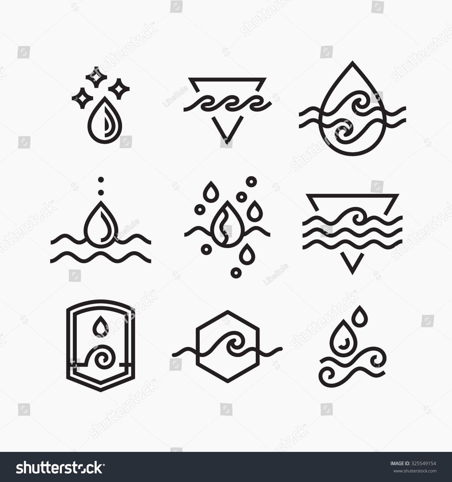 Image vectorielle de stock de Image vectorielle ensemble de symboles d'eau, 325549154