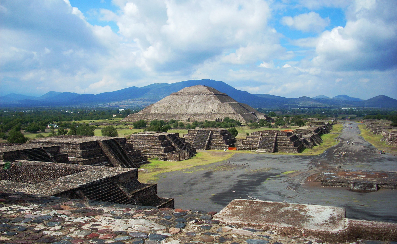 Beautiful Pyramid Of The Sun Teotihuacan Mexican