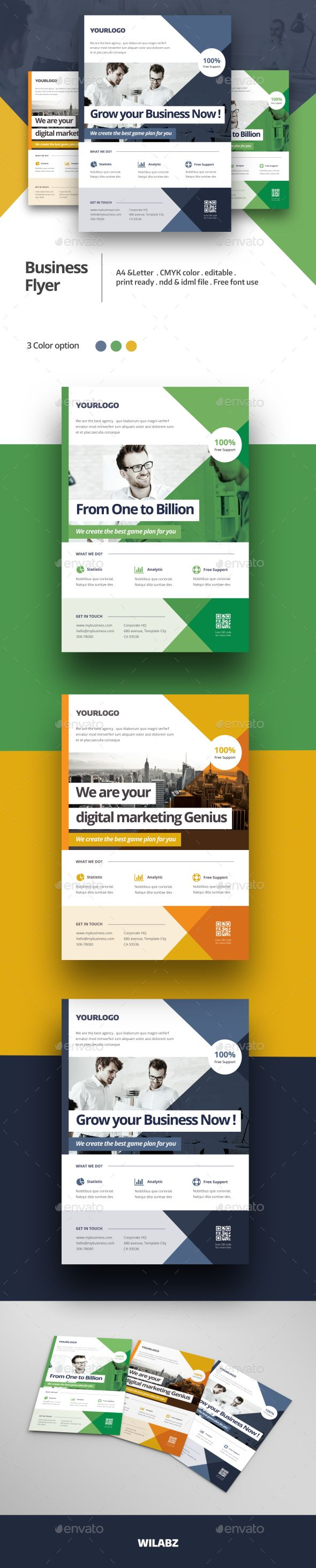 Business Flyer Template InDesign INDD. Download here: http ...