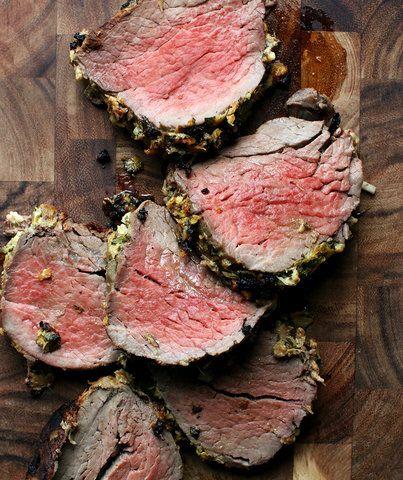 Horseradish-Crusted Beef Tenderloin #beeftenderloin
