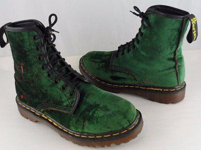 ed10b4eef0291 Details about ENGLAND Doc Dr Martens Green Suede Boots Women US 8 ...