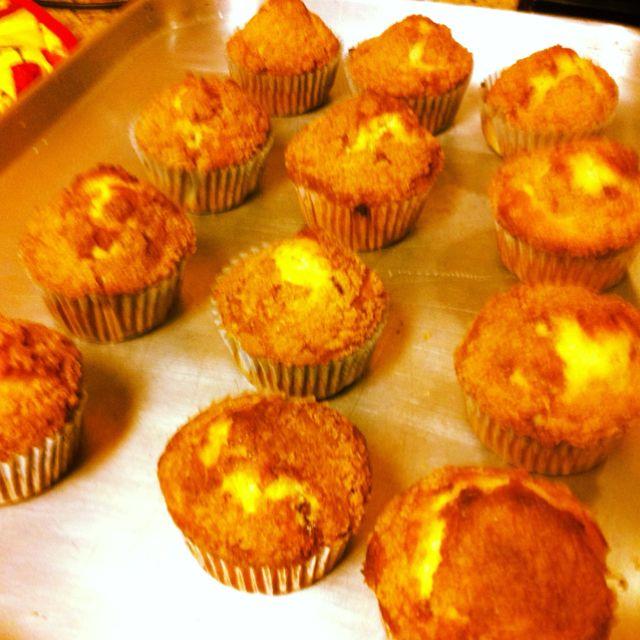 Cinnamon streusel muffins!! I made(: