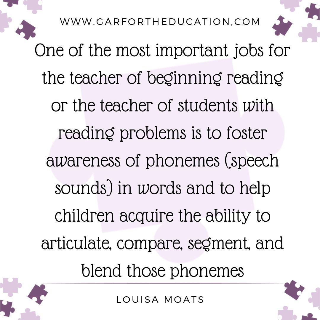 Importance of phonemic awareness in reading instruction