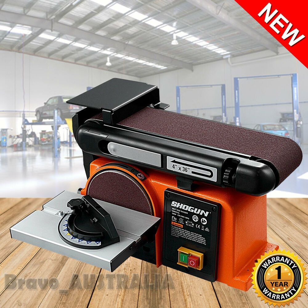 Belt Disc Sander Workshop Bench Mount Sanding Machine Grinder Linisher 500w Workshop Bench Sanding Belt Sander