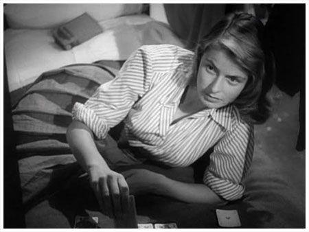 Ingrid, in a scene from the film Stromboli, 1950. lmr