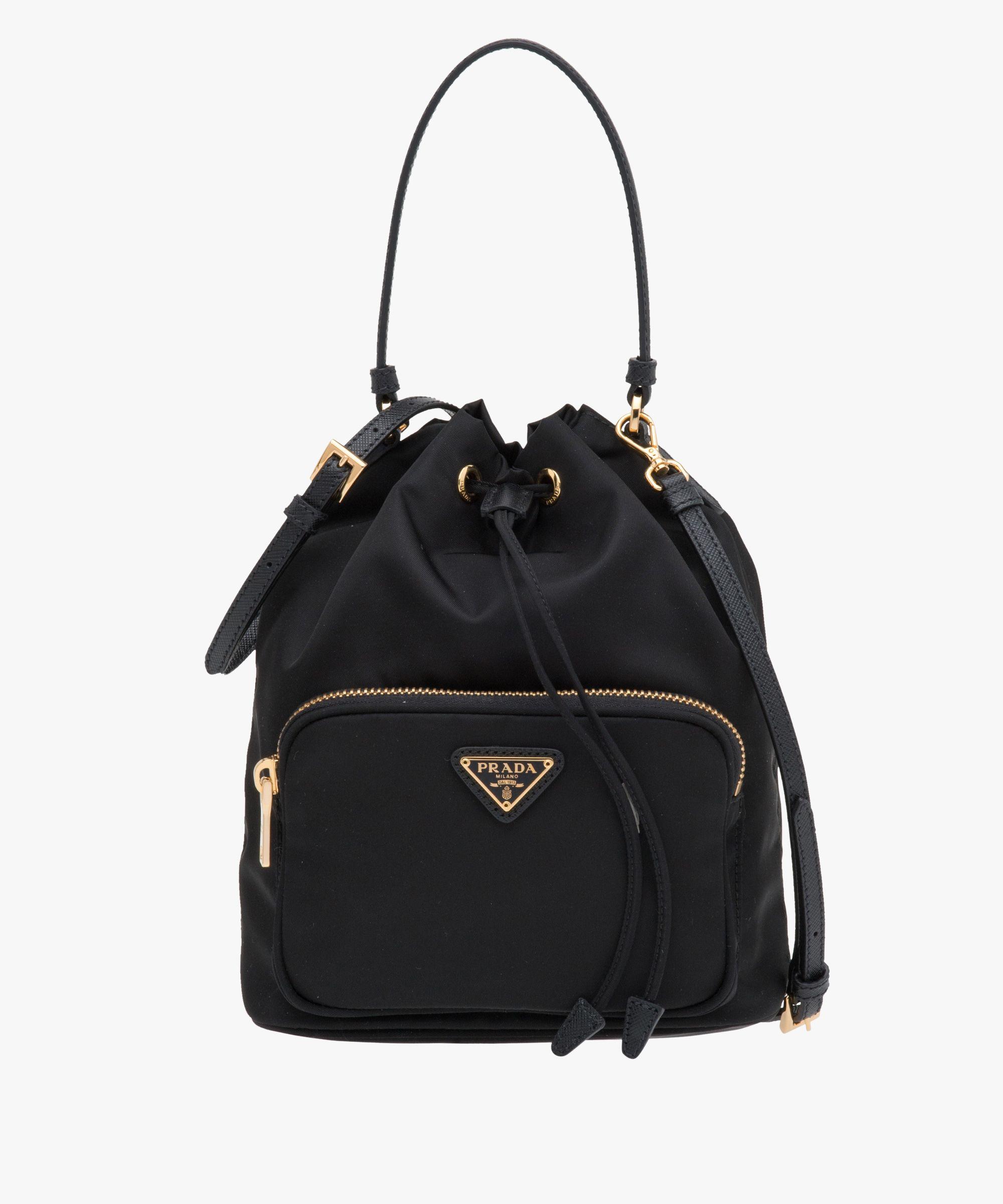 33a10e823c2317 Prada Woman - Fabric mini bag - Black - 1BH038_074_F0002_V_OOO
