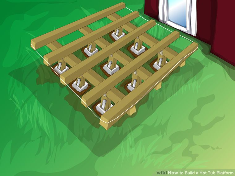 How To Build A Hot Tub Platform With Pictures Wikihow Hot