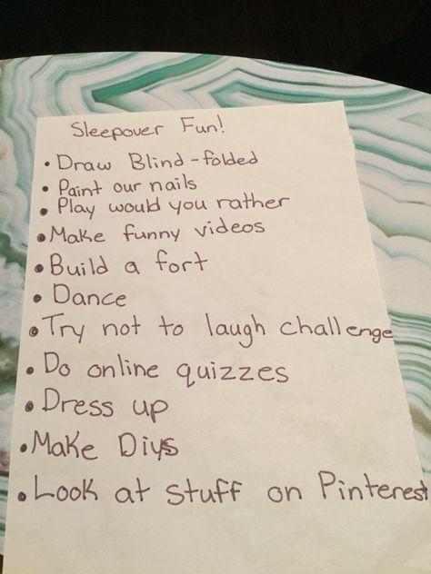 45 trendy Ideas fun sleepover games for teens activities birthday parties