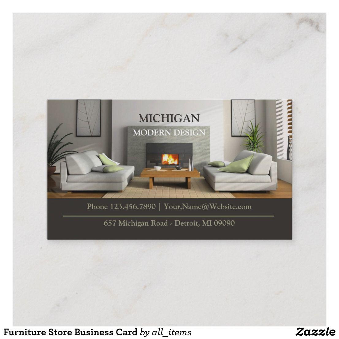 furniture store business card | zazzle