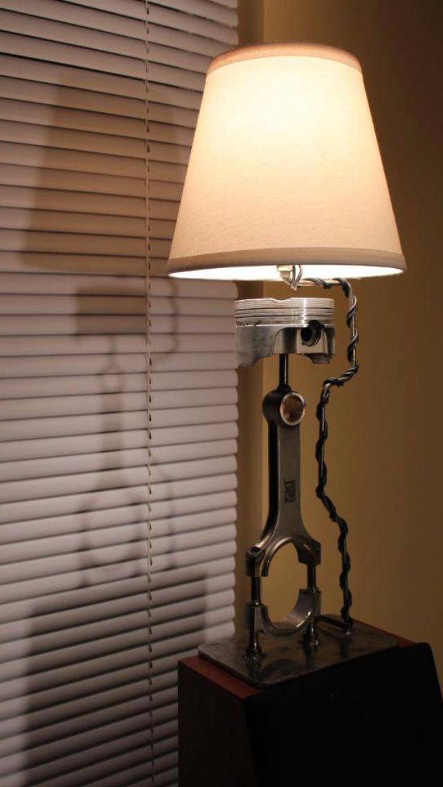 Piston and rod lamp Piston and rod