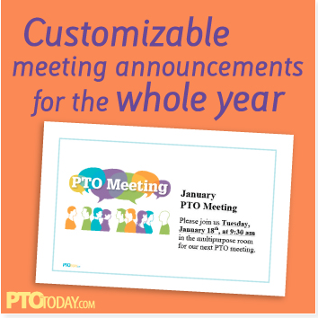 get our free meeting announcement template at the pto today file