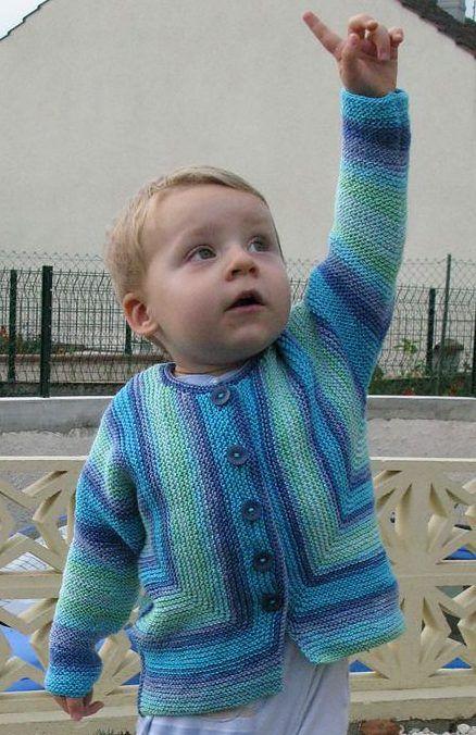 Free Knitting Pattern for Baby Jacket in Garter Stitch | Для самых ...