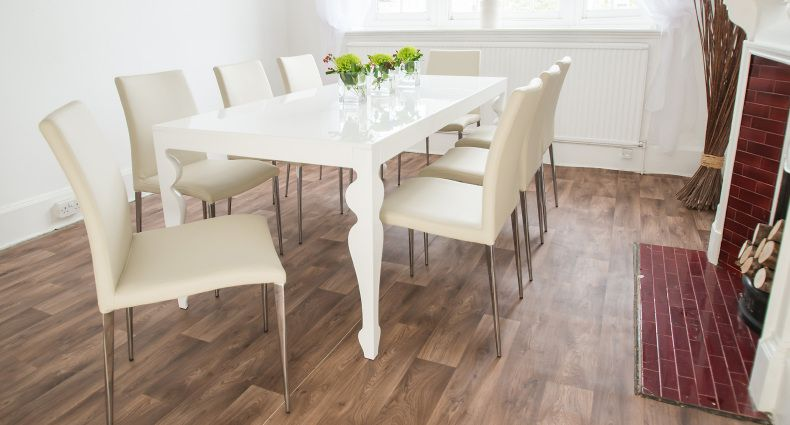 The Muse White High Gloss And Elise Dining Set Is A Beauty To