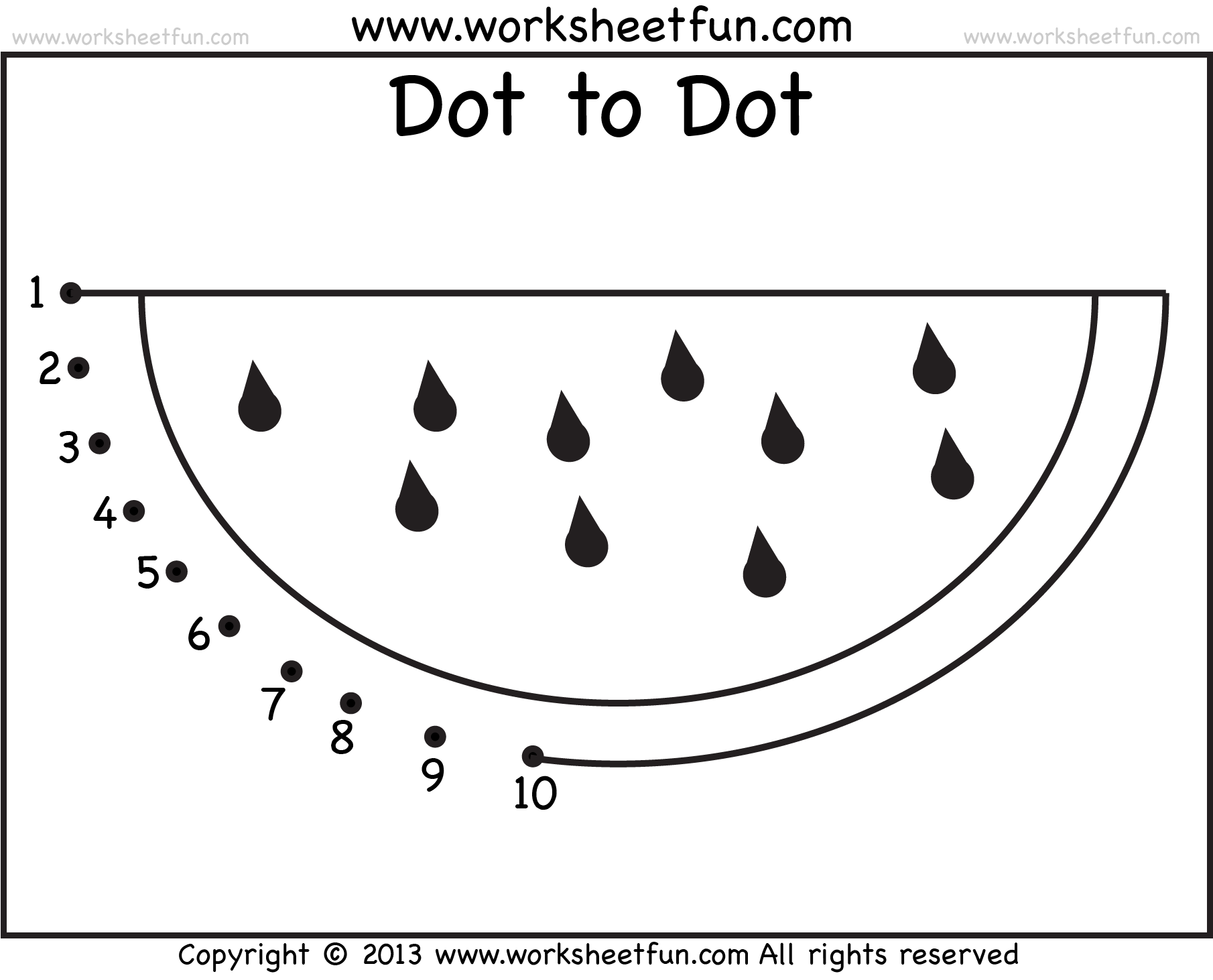 Dor To Dot Watermelon 4 Crafts And Worksheets For Preschool Toddler And Kindergarten Printable Preschool Worksheets Dot Worksheets Preschool Worksheets [ 1462 x 1810 Pixel ]