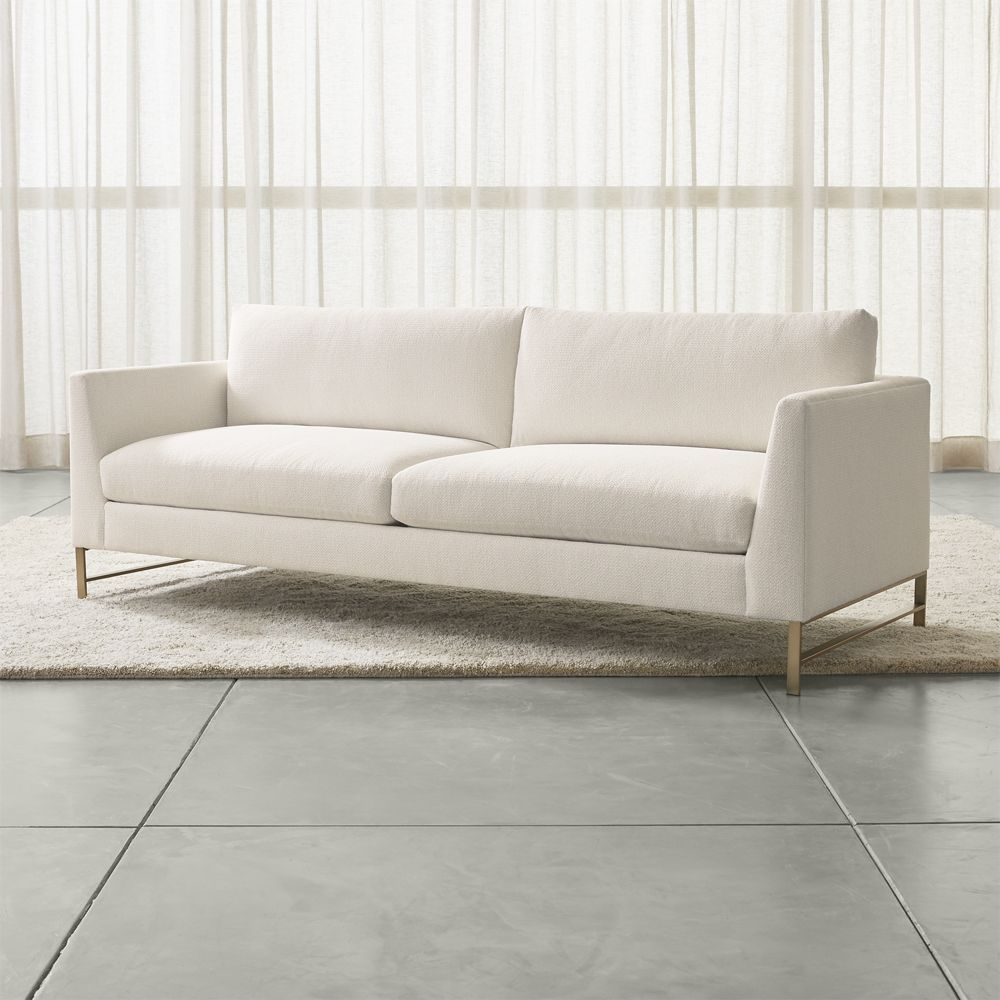 Furniture Sectional Sofas Tyson Leather Sectional Parts With Brass Legs
