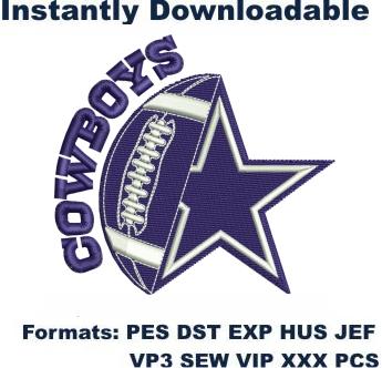 Download Dallas Cowboys Star Logo embroidery design online