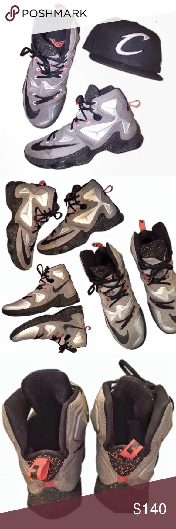 pretty nice e162d 5dbca Lava / Metallic Silver Nike LeBron 13 Men's Nike LeBron 13 ...
