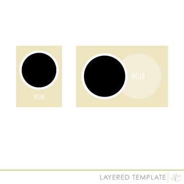Neverland Circle Frames Digital Template 2 sizes at Studio Calico