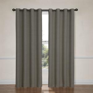 Eclipse Bobbi Grommet Blackout Window Curtain Panel 63 Inch Pewter