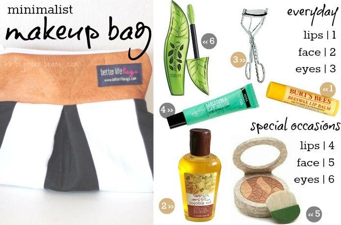 Minimalist Make-up Bag | choosing healthy + essential cosmetics