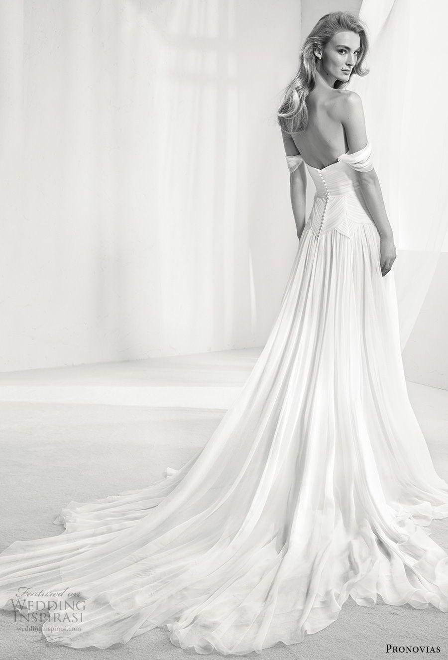 atelier pronovias 2018 Braut aus der Schulter gerade über den ...