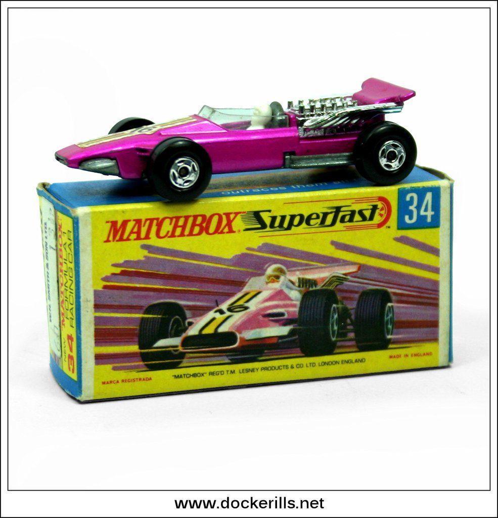 Matchbox Formula 1 Racing Car No 34d Matchbox 1 75 Series Original Box Matchbox Matchbox Cars Mattel Hot Wheels
