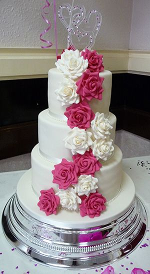 wedding cakes pink and white pink and white wedding cakes www pixshark images 25285