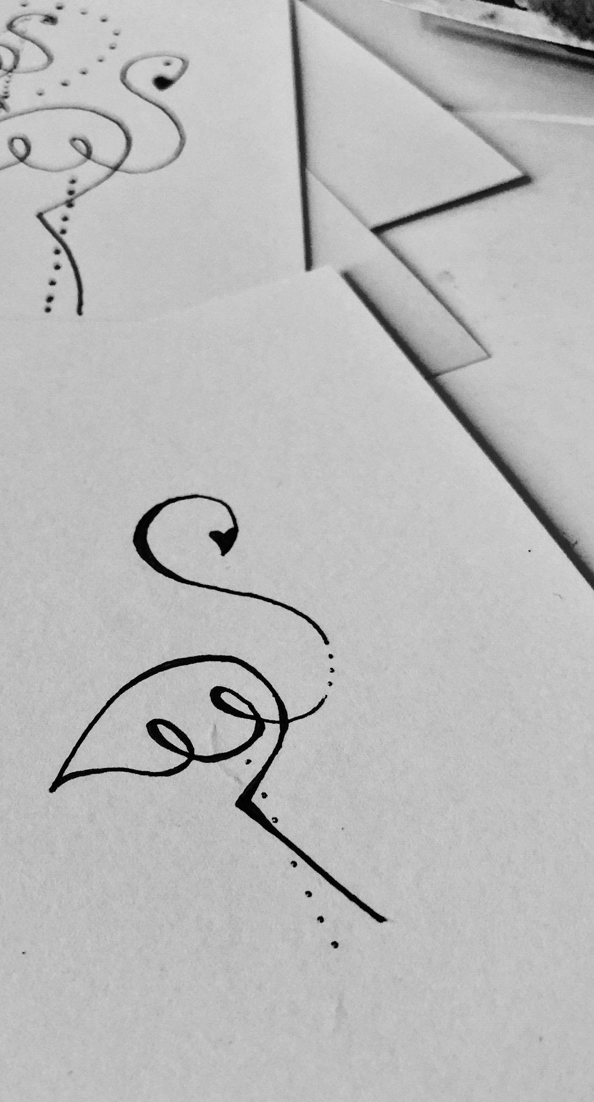 Siluetas Dibujos Arte Garabateado Dibujos Sencillos Letras A Mano