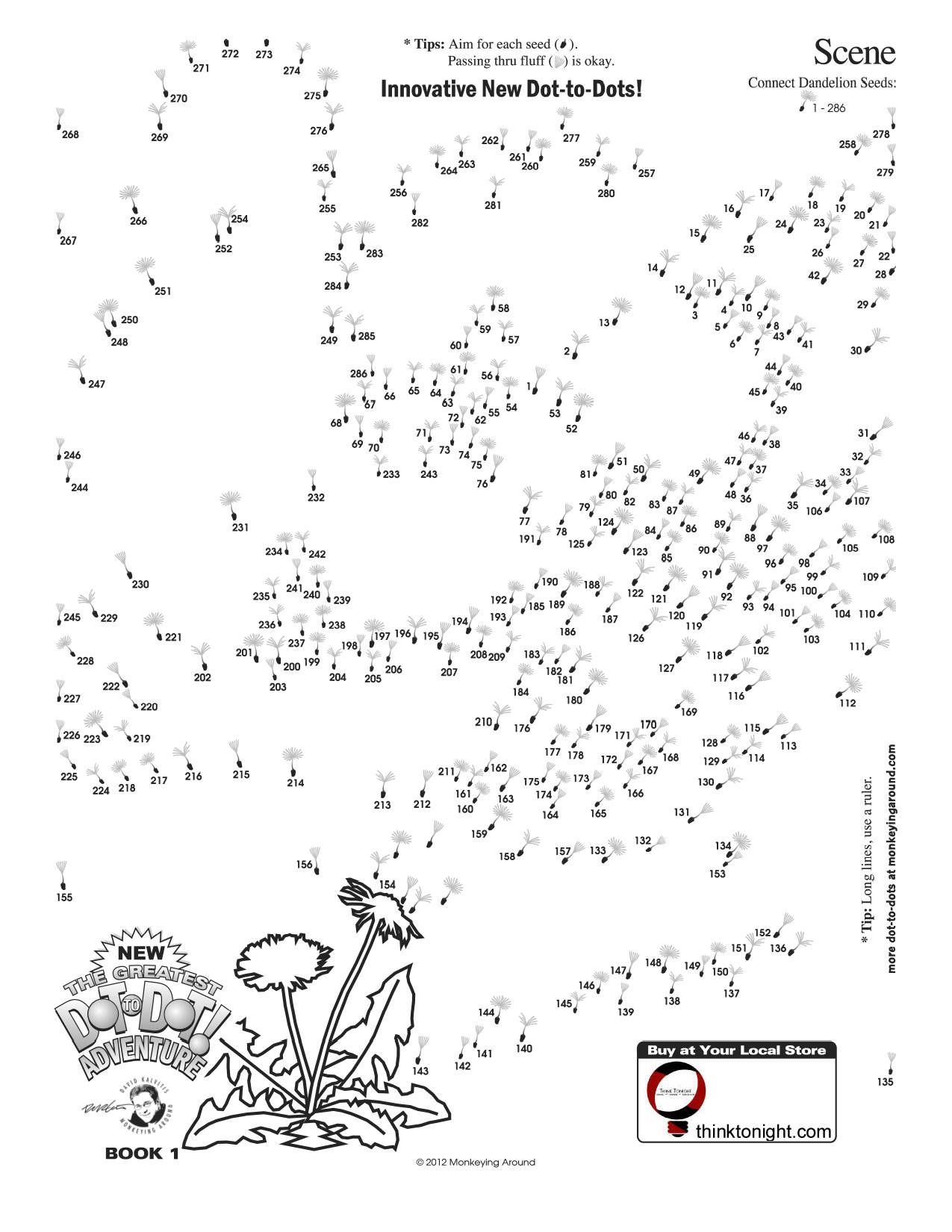 Inktonight Downloadable Dot To Dot