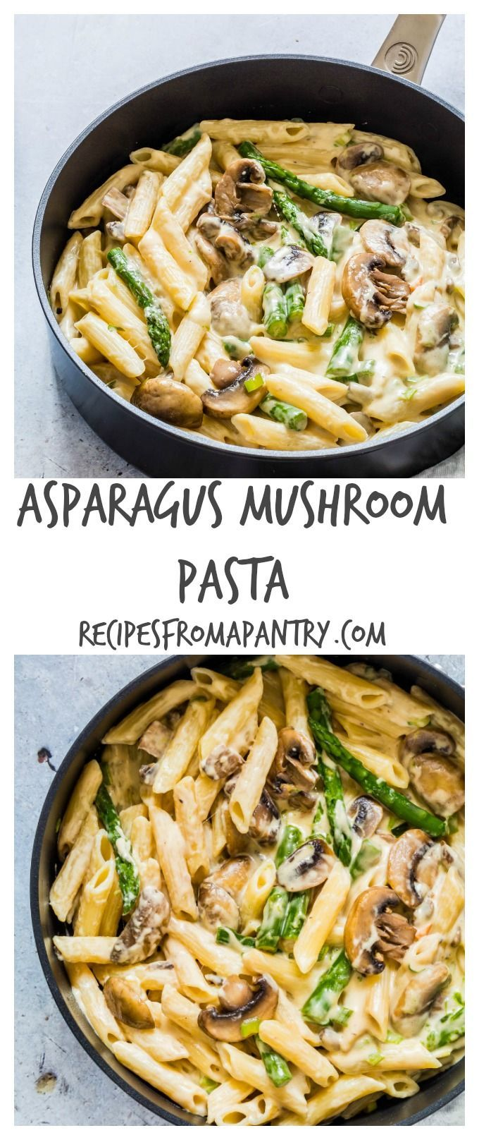 This asparagus mushroom pasta recipe is simple, tasty, comforting and awesome. Recipesfromapantry.com http://hubz.info/cooking