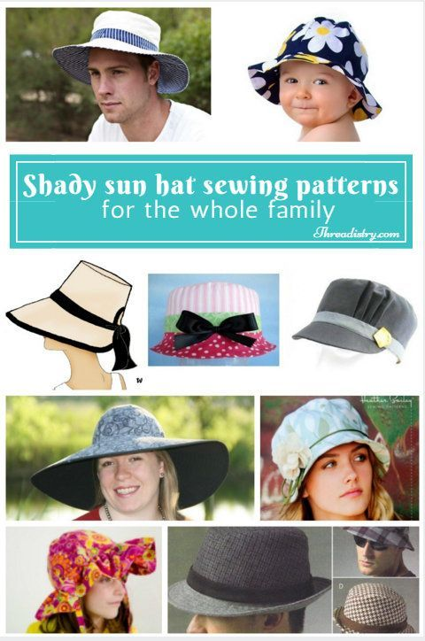 Shady sun hat sewing patterns for the whole family. Just what we need to stop us all getting sunburnt this summer