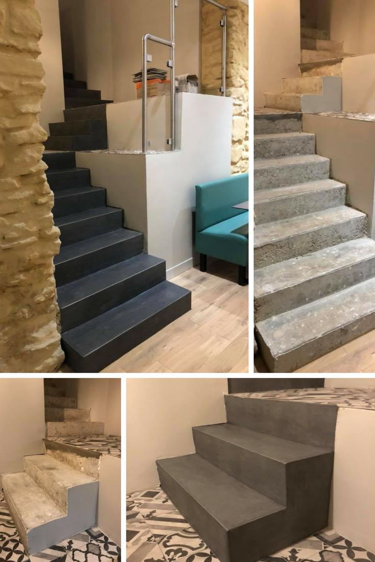 Rafra chissez facilement votre tablissement avec le b ton - Escalier contemporain beton ...