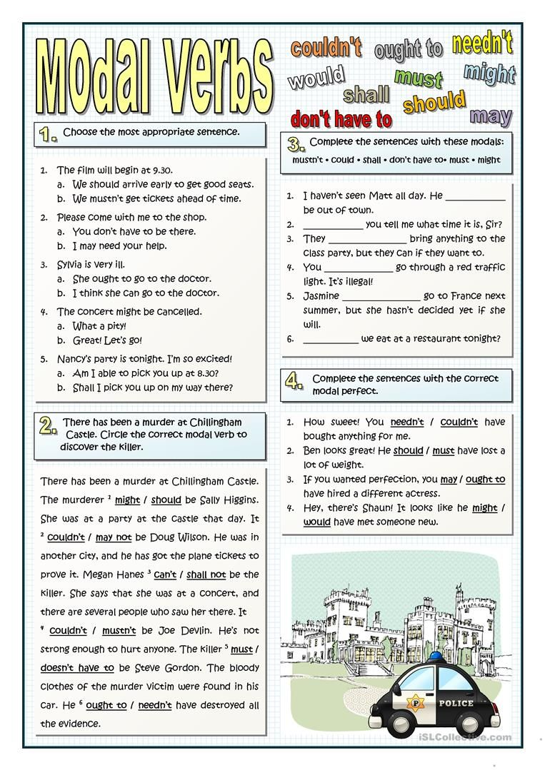 Modals And Modal Perfects English Esl Worksheets For Distance Learning And Physical Classrooms English Vocabulary Grammar Exercises English Grammar [ 1079 x 763 Pixel ]
