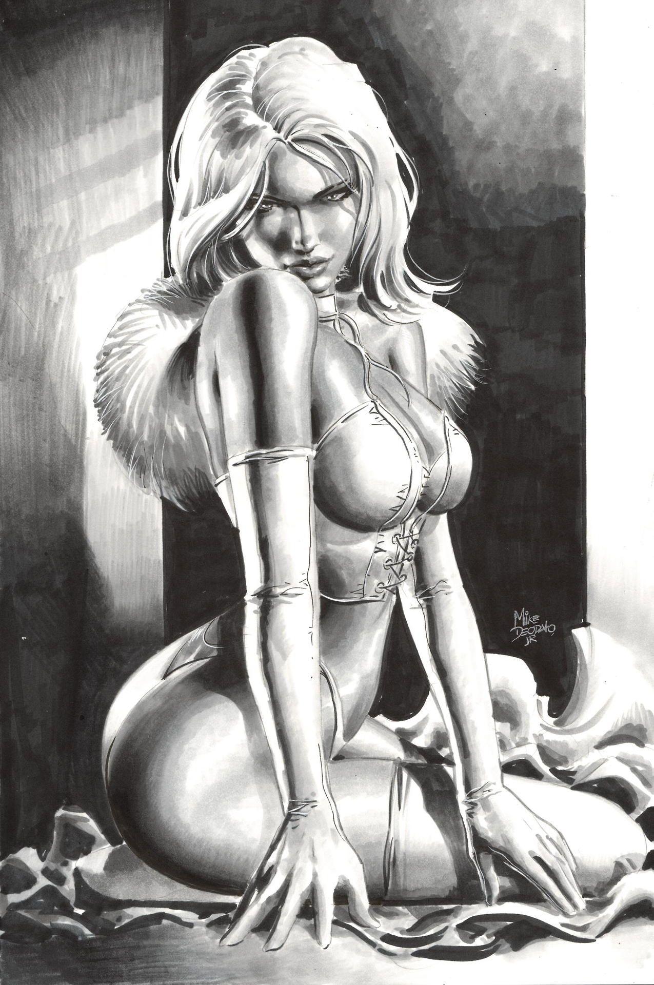 Erotic white queen