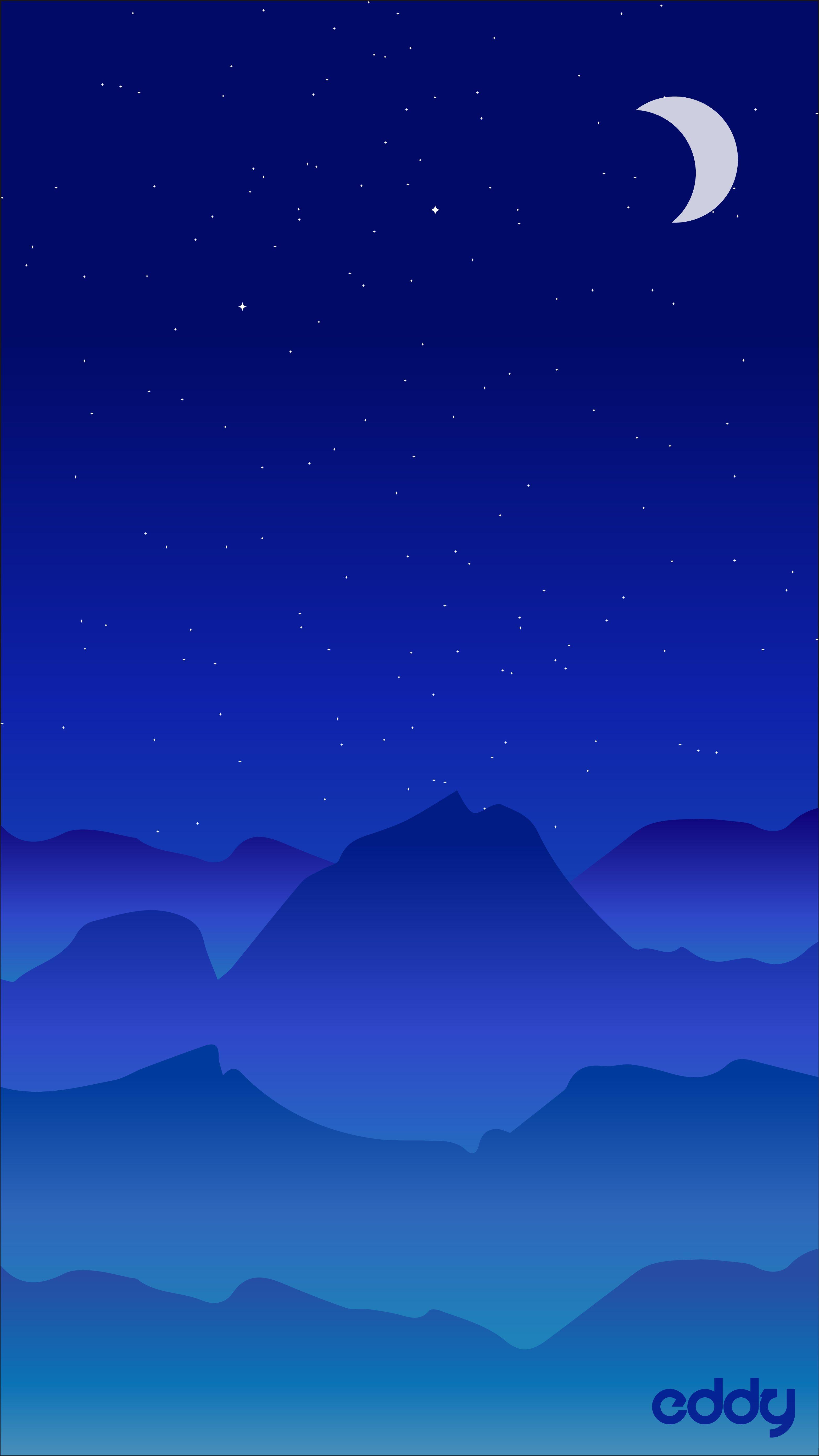 Vector Landscape Night Illustrator Vector Mountain Art Night Star Moon Minimalist Wallpaper Wallpaper Backgrounds Minimal Wallpaper
