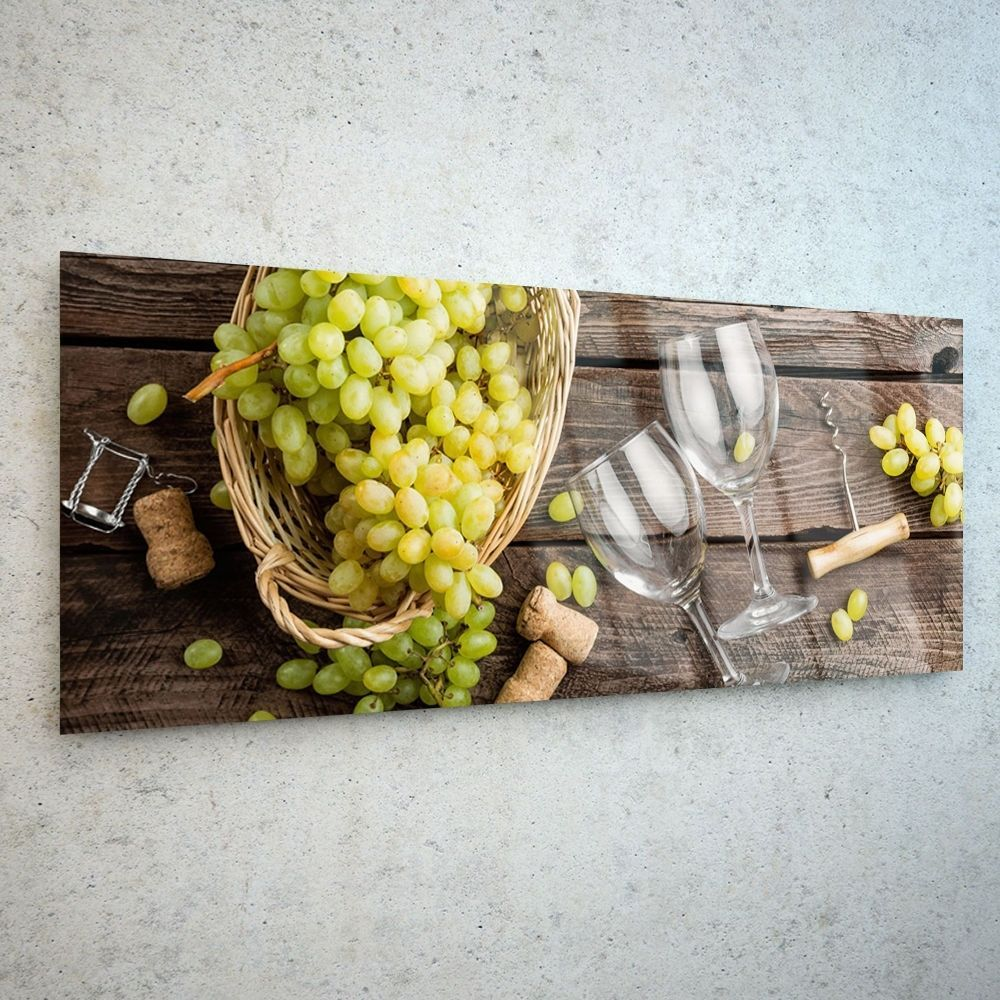 Wall Art Glass Print Canvas New Picture Large Wine Grapes Food ...