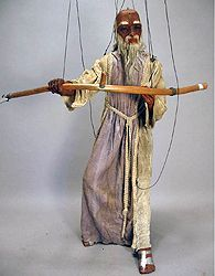 Father Time  Marion - Father Time  Marionette William Duncan and Edward Mabley Tatterman Marionettes 1920s-1930s Variety shows 476 NA --- #Theaterkompass #Theater #Theatre #Puppen #Marionette #Handpuppen #Stockpuppen #Puppenspieler #Puppenspiel