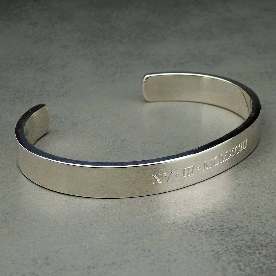 Men S Solid Silver Bracelet Bracelets For Bangle Bangles