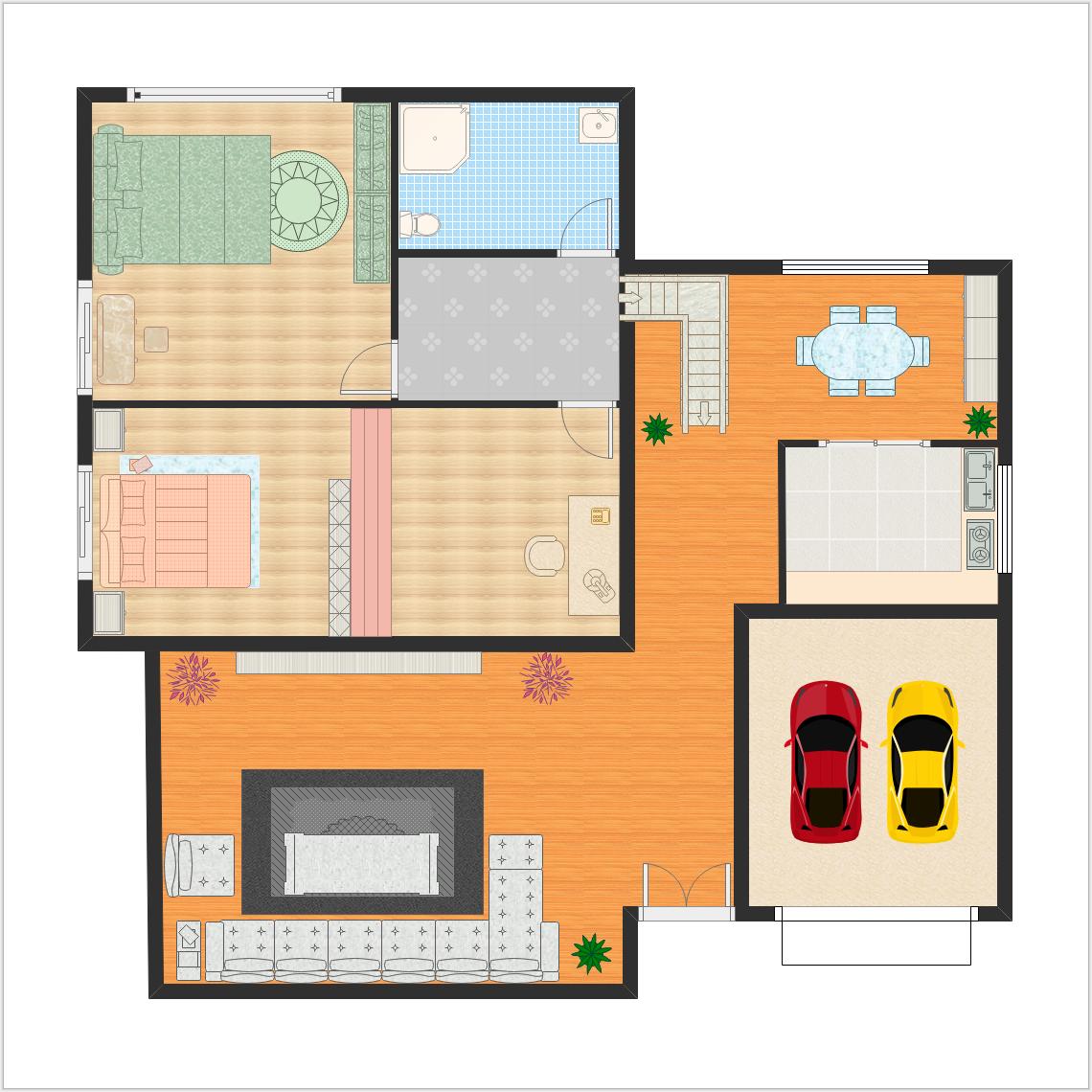 Erstellen Sie professionellen Innen Haus Bauplan mit