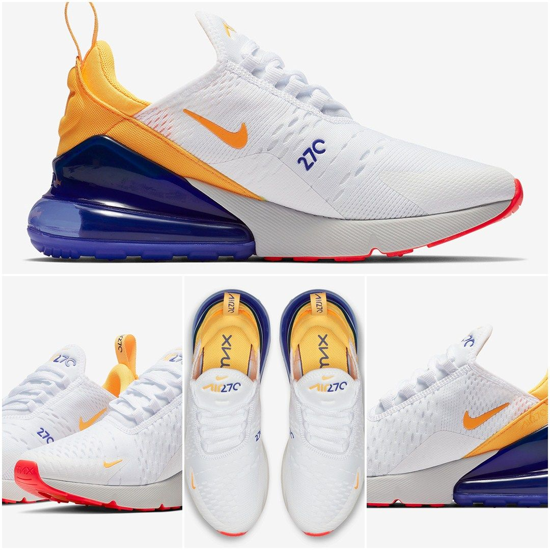 41d3242b1997 Nike Air Max 270 Yellow and White