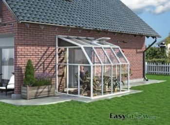Rion Lean-to 6x8 Sun Room 2 Clear Wall Greenhouse Kit ...
