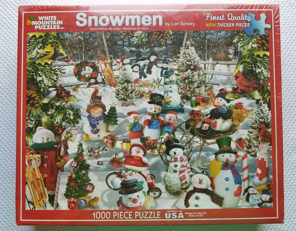 Details about Puzzle White Mountain Santa  Truck Christmas 1000