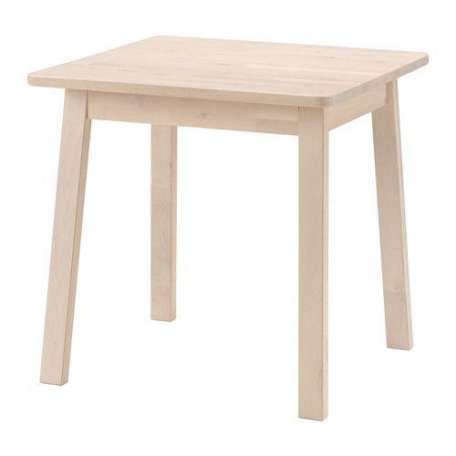 IKEA - NORRÅKER, Pöytä, Kestävä ja vahva; sopii julkisiin tiloihin.Puuviilun kauniin syykuvion ja luonnollisen elävän värin ansiosta jokainen pöytä on omanlaisensa.Pyöristetyt kulmat ovat lapsiturvallisemmat.